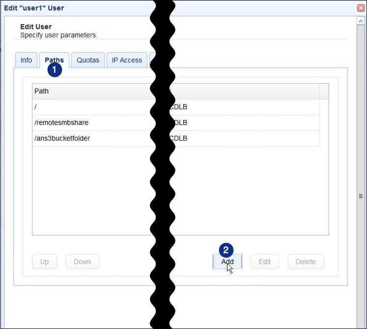 webdav network storage user parameters