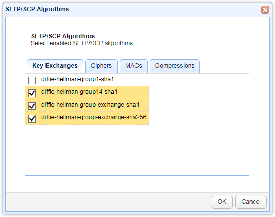 SFTP Client Connection Issues Involving Diffie-Hellman