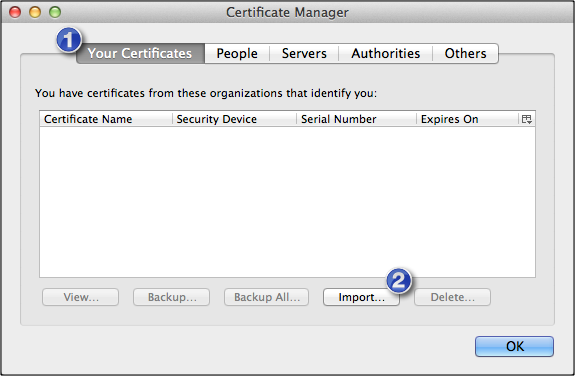 How To Import A Client Certificate To Firefox